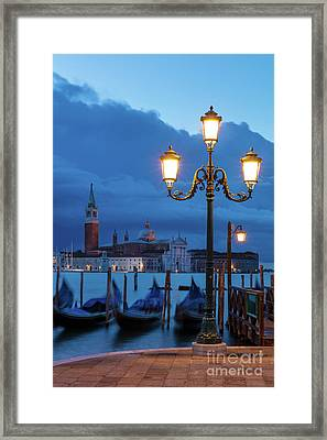 Framed Print featuring the photograph Venice Dawn V by Brian Jannsen