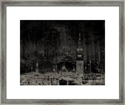 Venice Distressed No. 1 - Vintage Black Framed Print
