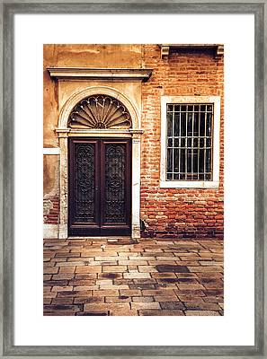 Framed Print featuring the photograph Venice Door by Andrew Soundarajan