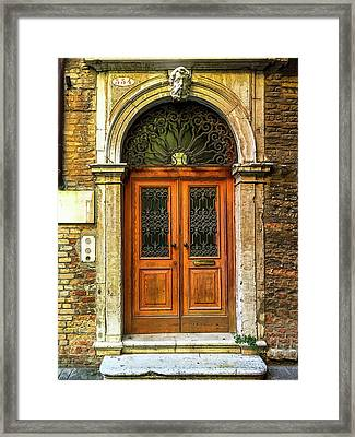 Venice Entry Way Framed Print