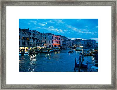Framed Print featuring the photograph Venice Evening by Eric Tressler