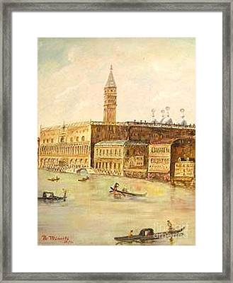 Venice From Grand Canal Framed Print by Nicholas Minniti