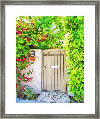 Framed Print featuring the photograph Venice Gate by Chuck Staley