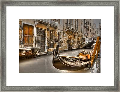 Venice Gold Framed Print