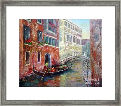 Venice Gondola Ride Framed Print