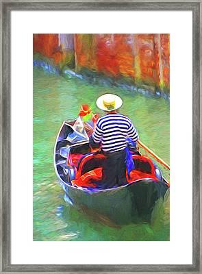Venice Gondola Series #3 Framed Print by Dennis Cox
