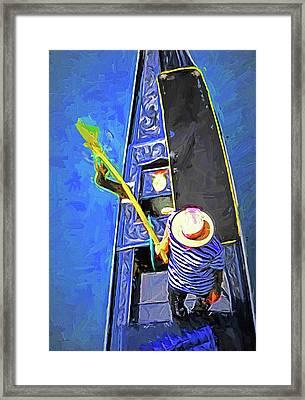 Venice Gondola Series #4 Framed Print by Dennis Cox