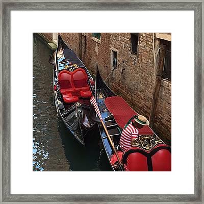 Venice Gondolas Framed Print