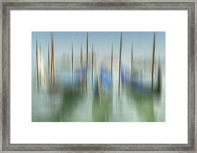 Venice Gondolas Impression 1 Framed Print by Marty Garland