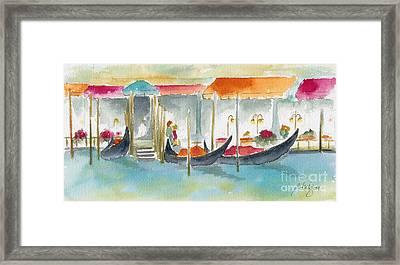 Venice Gondolas Framed Print by Pat Katz