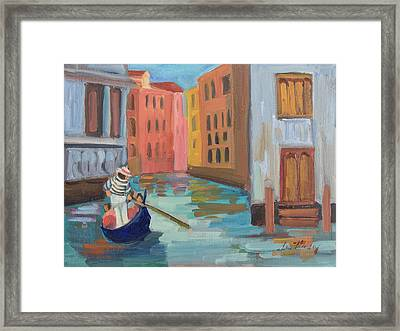 Venice Gondolier 2 Framed Print by Diane McClary
