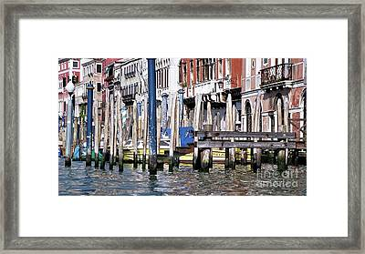 Framed Print featuring the photograph Venice Grand Canal by Allen Beatty