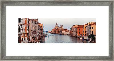 Framed Print featuring the photograph Venice Grand Canal by Songquan Deng