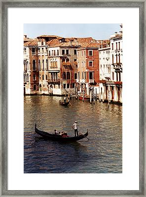 Framed Print featuring the photograph Venice by Helga Novelli