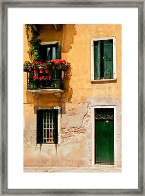 Venice Home Framed Print by Carl Jackson