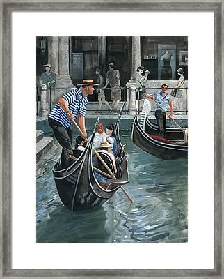 Venice. Il Bacino Orseolo Framed Print