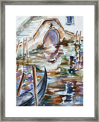 Framed Print featuring the painting Venice Impression I by Xueling Zou