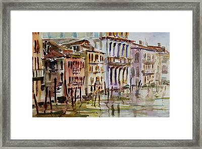 Framed Print featuring the painting Venice Impression II by Xueling Zou