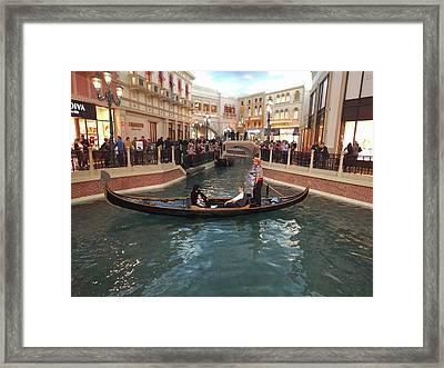 Venice In Las Vegas Framed Print by Avinash Kumar