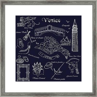 Venice In Miniature Framed Print