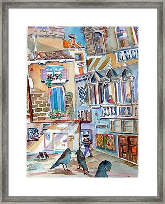 Venice Is Sinking Framed Print by Mindy Newman