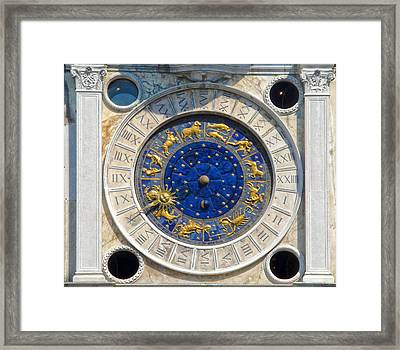 Venice Italy - St.mark's Clock Tower Framed Print by Gregory Dyer