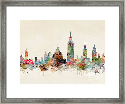 Framed Print featuring the painting Venice Italy by Bri B