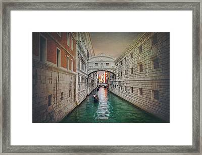 Venice Italy Bridge Of Sighs  Framed Print