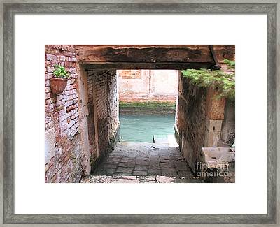 Venice- Italy-garage Framed Print by Italian Art