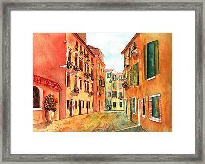 Venice Italy Street Framed Print