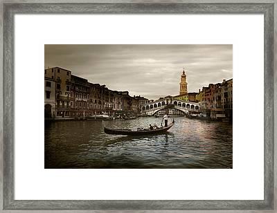 Framed Print featuring the photograph Venice by John Hix