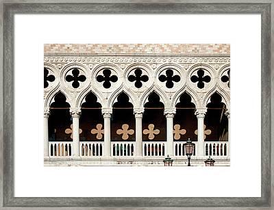 Venice Light And Shadows Framed Print by Christian Hallweger