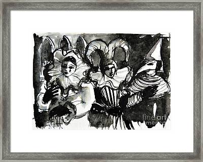 Venice Masks Trio Framed Print by Mona Edulesco