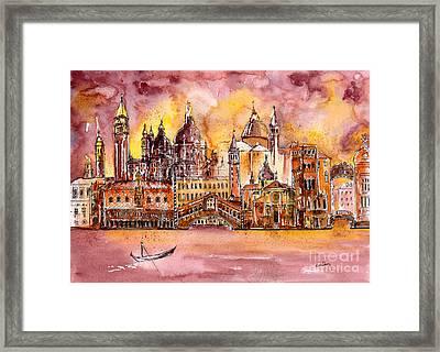 Venice Medley Framed Print by Callan Percy
