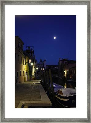 Venice Moon Framed Print by Pat Purdy