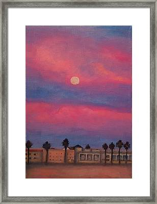 Venice Moonrise Framed Print by Pia Tohveri