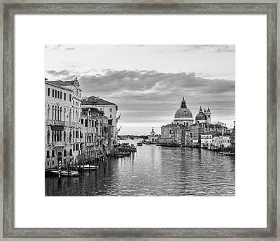 Framed Print featuring the photograph Venice Morning by Richard Goodrich
