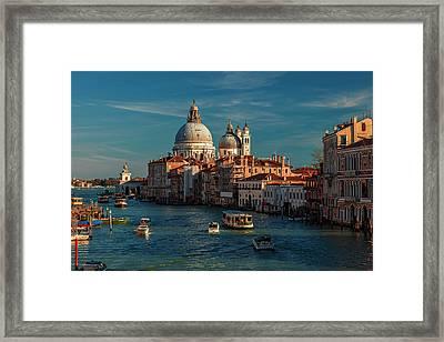 Venice Morning Traffic Framed Print by Andrew Soundarajan