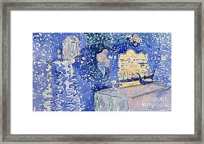 Venice  Night Of The Festival Of The Redeemer, 1903 Framed Print by Henri Edmond Cross
