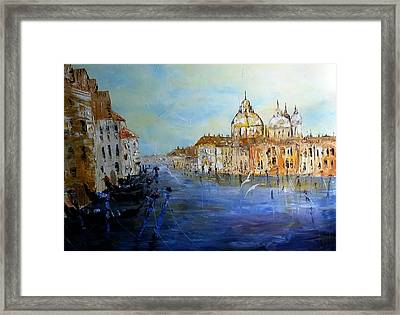 Venice Oil Sketch  Framed Print