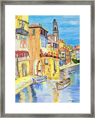 Framed Print featuring the painting Venice On A Summer Afternoon by Connie Valasco