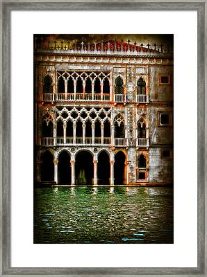 Framed Print featuring the photograph Venice Palace  by Harry Spitz