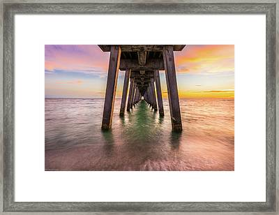 Framed Print featuring the photograph Venice Pier by Expressive Landscapes Fine Art Photography by Thom