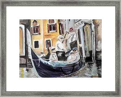 Venice Party Framed Print