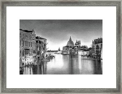 Venice Pencil Drawing Framed Print