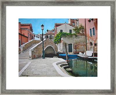 Venice Piazzetta And Bridge Framed Print by Italian Art