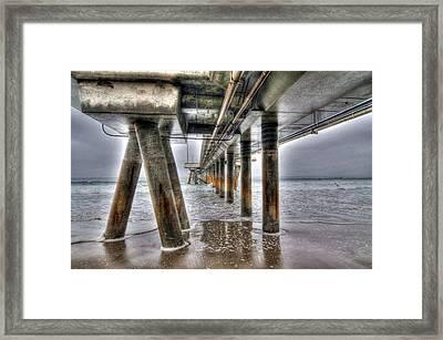 Venice Pier Industrial Framed Print