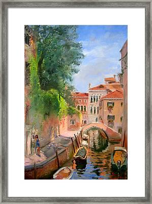 Venice Ponte Moro Framed Print by Ylli Haruni