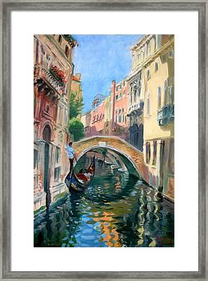 Venice Ponte Widmann Framed Print by Ylli Haruni