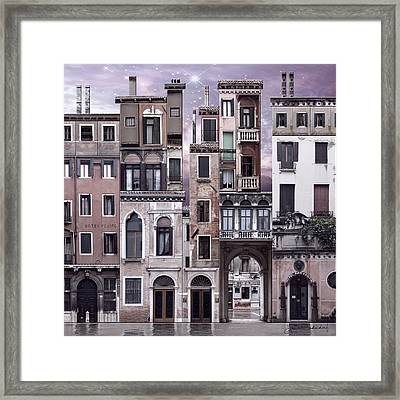 Venice Reconstruction 1 Framed Print by Joan Ladendorf